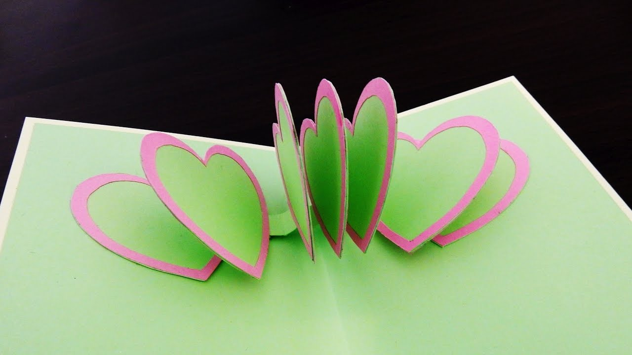 Pop Up Card Heart To Heart How To Make A Greeting Card With Pop