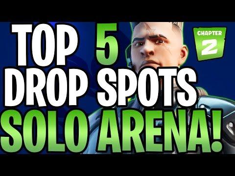 *TOP 5* BEST SOLO ARENA DROP SPOTS (Fortnite Chapter 2)
