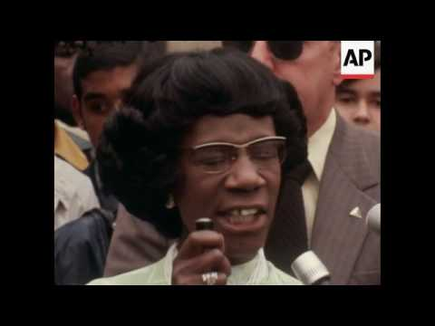 Shirley Chisholm campaigns in New York