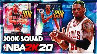 I made this GOAT SQUAD for LESS THAN 200k mt in nba 2k20 myteam....