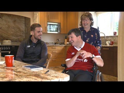Jordan Henderson suprises a lifelong LFC fan | Pure Liverpool FC