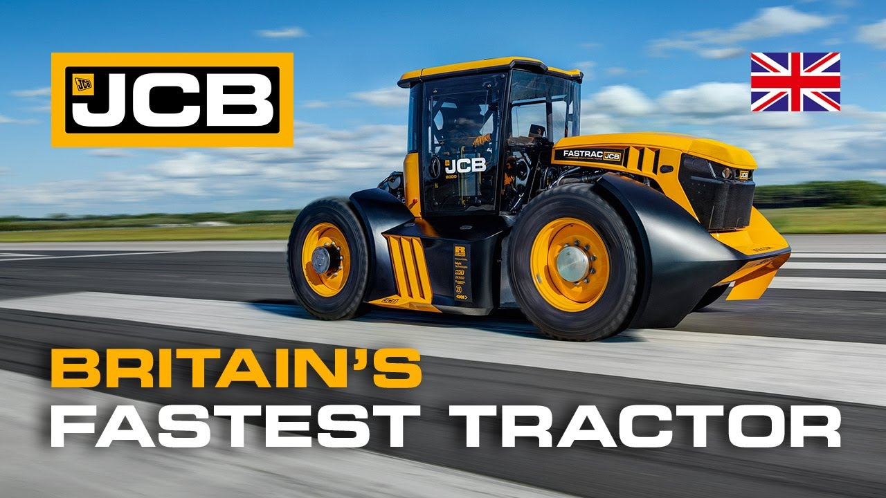Fastest Tractor in Britain - JCB Fastrac British Speed Record with Guy Martin #JCBWFT