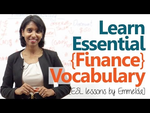 Learn essential finance terms & vocabulary - Free English le