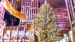 Download Video Holiday Time in New York City, Rockefeller Center Christmas Tree MP3 3GP MP4