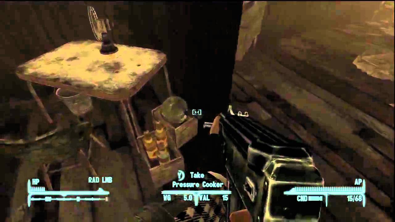 where to find a pressure cooker in fallout new vegas youtube. Black Bedroom Furniture Sets. Home Design Ideas
