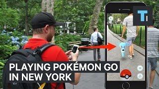 Playing Pokémon GO in New York