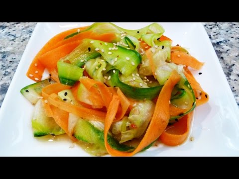 Ensalada japonesa de pepino y zanahoria youtube - Ensalada de apio y zanahoria ...
