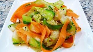 Ensalada Japonesa de Pepino y Zanahoria