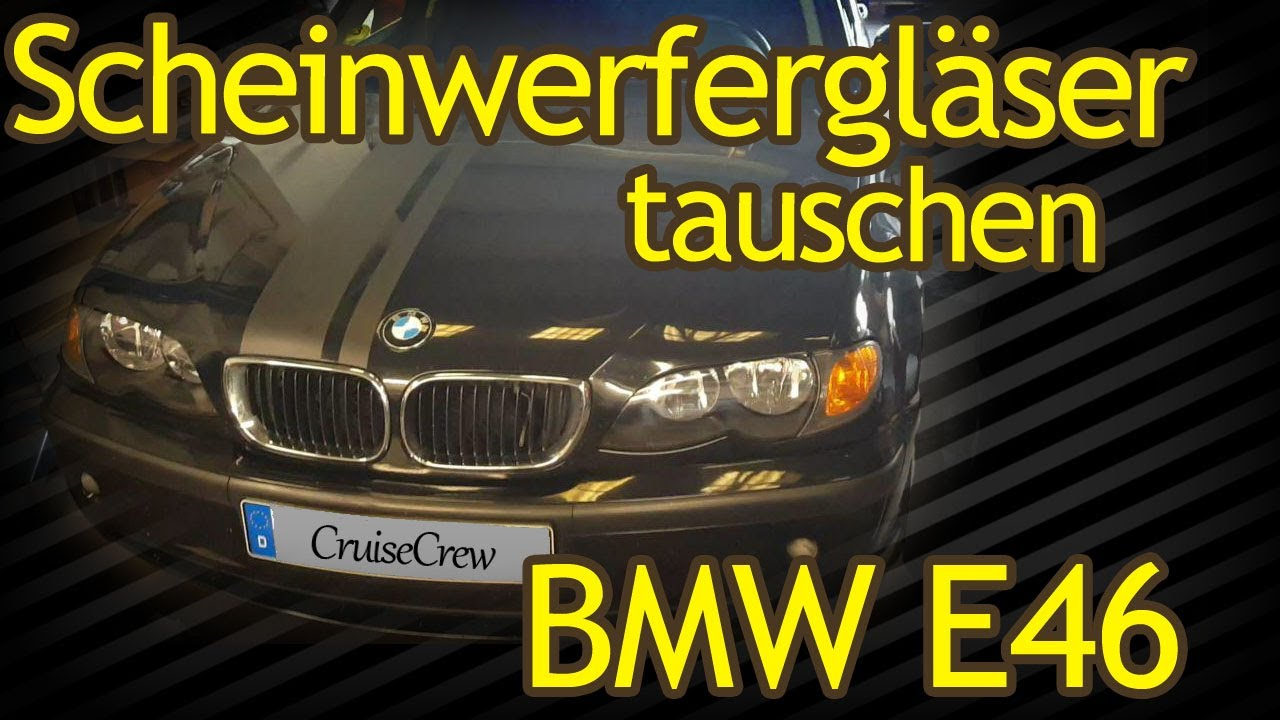 bmw e46 scheinwerferglas tauschen youtube. Black Bedroom Furniture Sets. Home Design Ideas