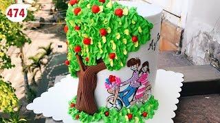 chocolate cake decorating vanilla (474) Học Làm Bánh Cây Tình Yêu (474 )