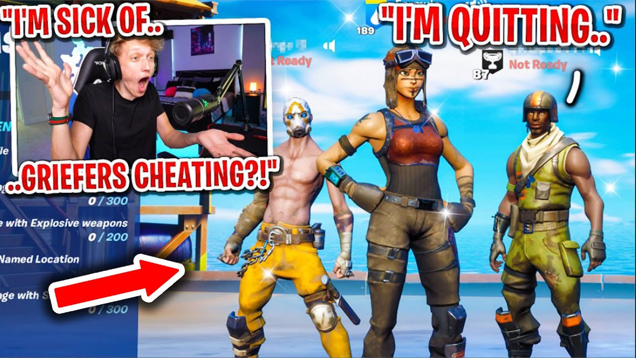 I made these griefers QUIT Fortnite after I confronted them for CHEATING...