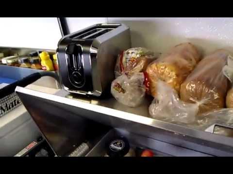 Leverage-the tv show-inside their kitchen trailer