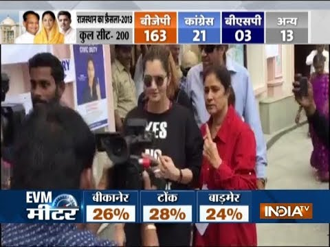 Rajasthan, Telangana Assembly Polls: Voting underway, Tennis player Sania Mirza cast her vote
