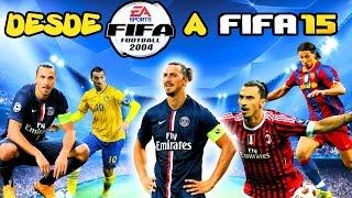 ZLATAN IBRAHIMOVIC DESDE FIFA 2004 A FIFA 2015 (CARAS Y HABILIDADES)   FROM FIFA 04 TO 15 (FACES)