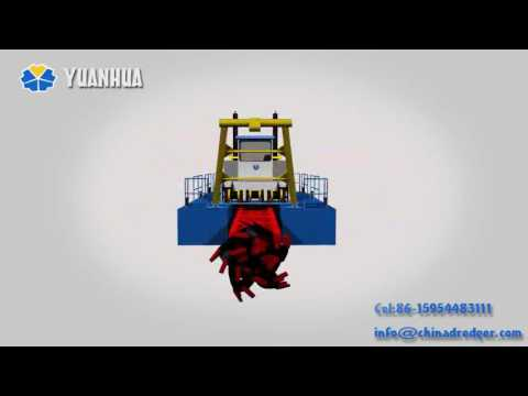 Cutter Suction Dredger Animation