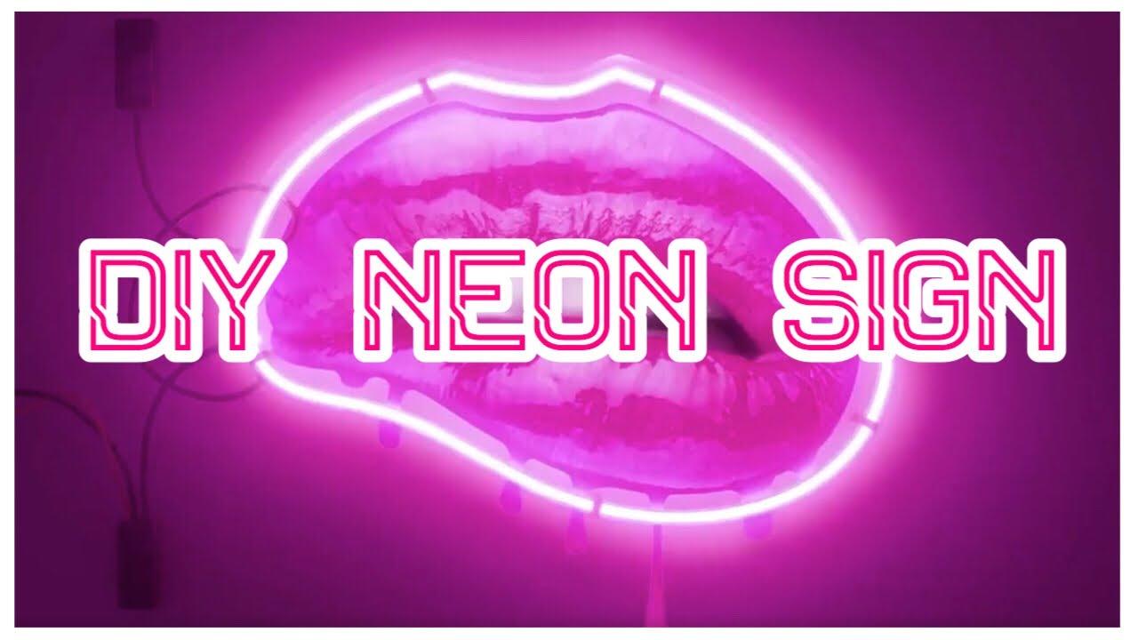 diy neon light up sign tumblr room decor 2017 youtube. Black Bedroom Furniture Sets. Home Design Ideas
