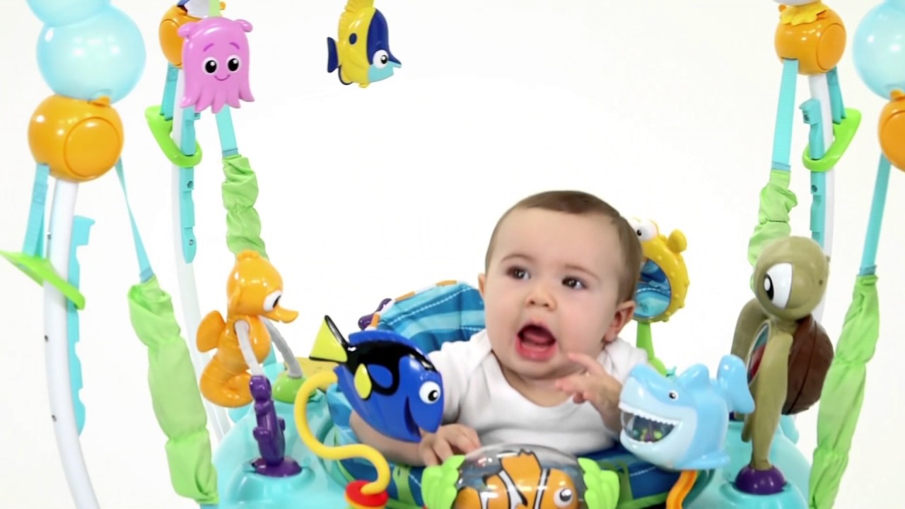 7671aa62d Disney Baby FINDING NEMO Sea of Activities Jumper from Bright Starts ...