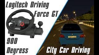 Руль Logitech DFGT + шашки на BMW M5 | City Car Driving