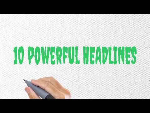 10 Powerful Headlines to Drive Targeted Organic Traffic to your Website/Social Media Account [FAST]