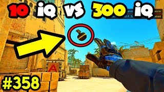10 IQ vs 300 IQ NADES ! - CS:GO BEST ODDSHOTS #358