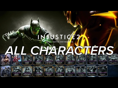 injustice 2 all characters ios android character list with