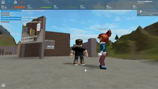Playing friend's game on Roblox!