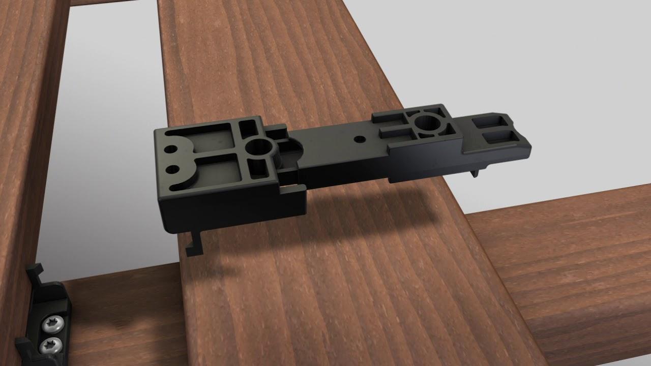 K/&R TERRACON unsichtbare Terrassenbefestigung CLIPPER ohne Schrauben