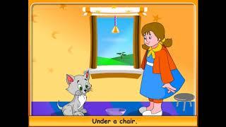 Детские песни на английском языке с субтитрами. КИСКА. PUSSY CAT