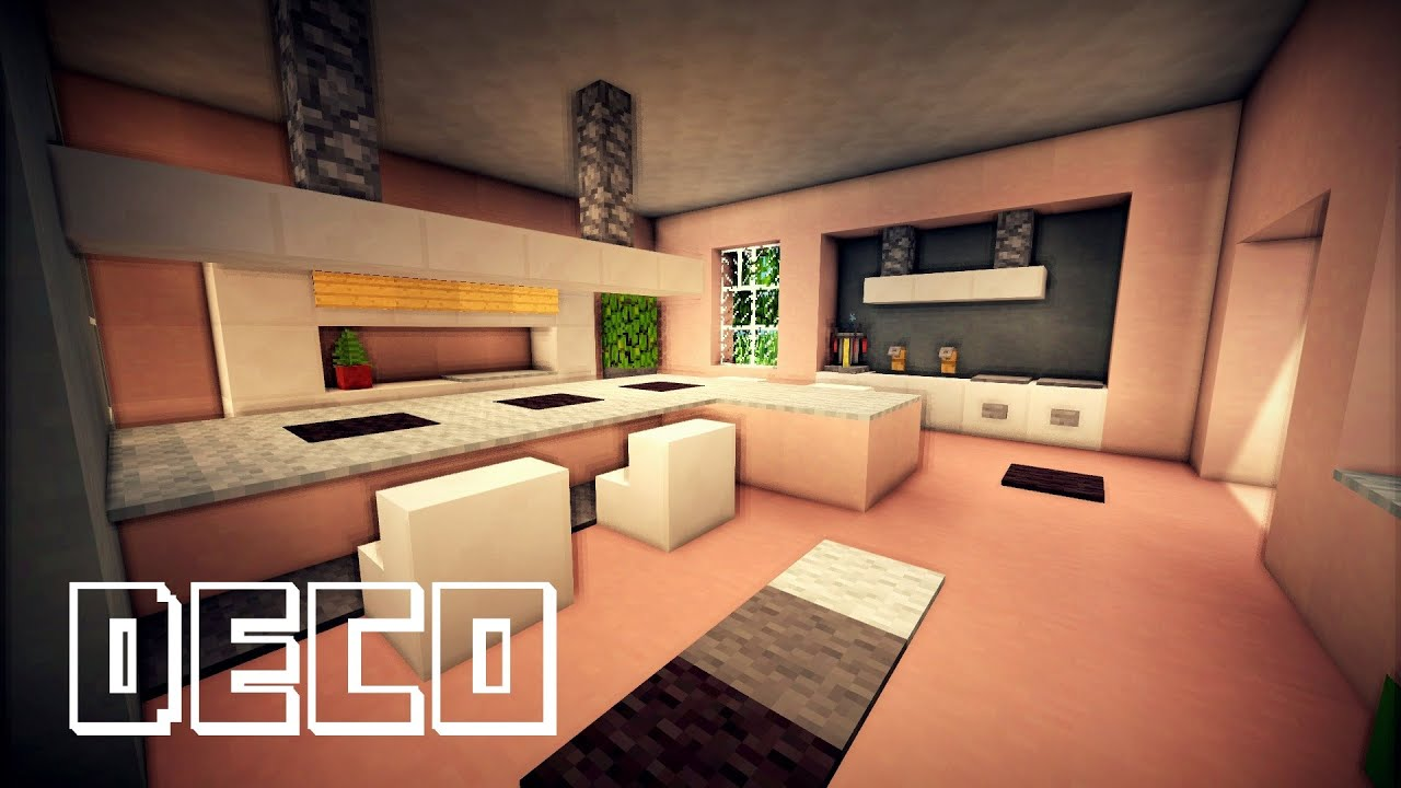 Minecraft creer une cuisine moderne youtube for Decoration cuisine moderne