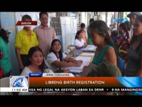 Libreng birth registration sa Quezon province