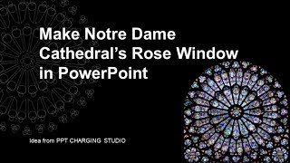 PowerPoint Notre Dame Katedrali Rose Pencere - iSlide