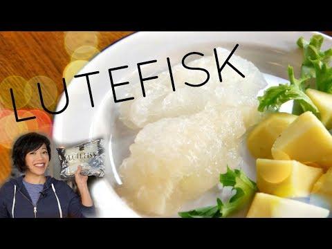 LUTEFISK & LEFSE Taste Test | Norwegian Lye Treated Fish Christmas Dinner