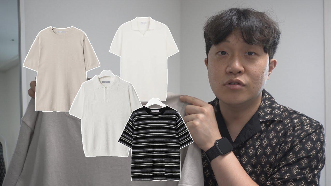 내돈내산! 5만원 미만 가성비 니트반팔, 니트피케셔츠 추천!!!!