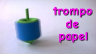ORIGAMI: Como hacer un TROMPO DE PAPEL - How to make a Paper spinning top