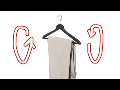 Как повесить брюки на вешалку ХИТРОСТЬ