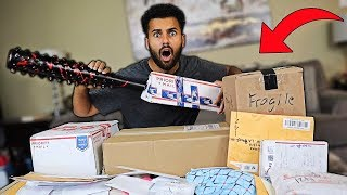 Someone Sent Me MYSTERY Packages Filled With ZOMBIE SURVIVAL GEAR!! *You Won't Believe It...*