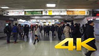Walking around in Shinjuku Station - Tokyo - 新宿駅 - 4K Ultra HD