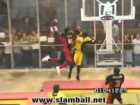 Slamball :: Lamonica Garrett reel  elbow dunk on someone