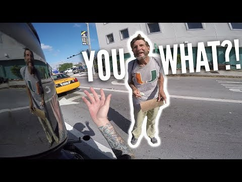 ALWAYS WEAR YOUR GEAR!? Motorcycle vs bad drivers! Squid in Miami pt 3!