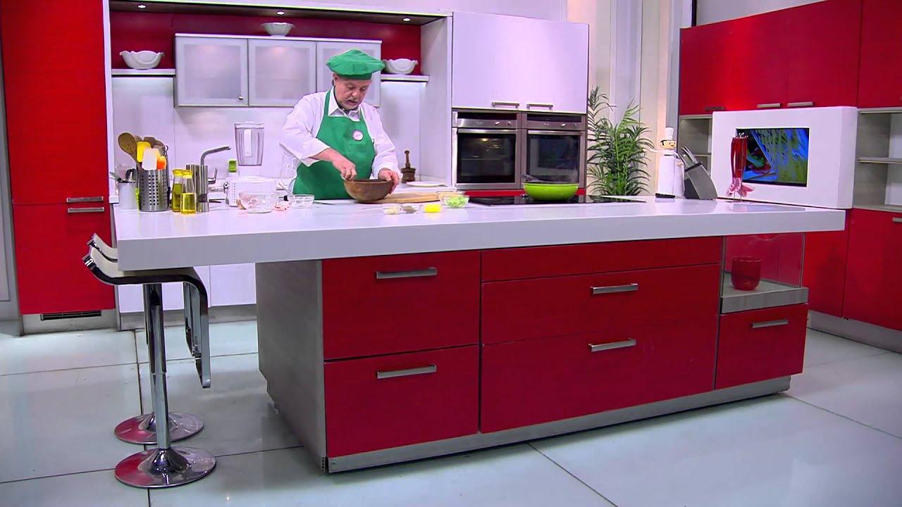 شوربة خضروات حاره - سلطة دجاج بالفاصوليا  - مكرونة بصوص سلامي : طبخة ونص حلقة كاملة