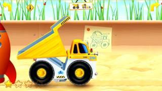 Play Sandbox Haul Truck Kids Ipad, Iphone,android App Demo Review Puzzles [ 로보 카 폴리