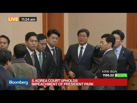 South Korea Court Upholds Impeachment of President Park
