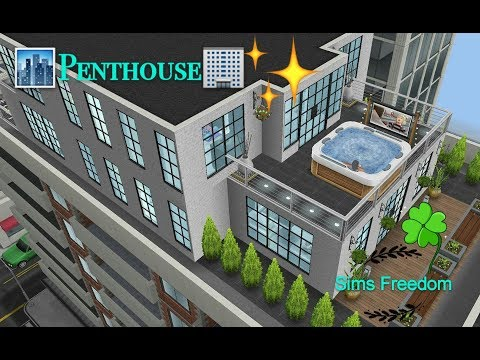 Sims Freeplay - Penthouse (Original House Design)
