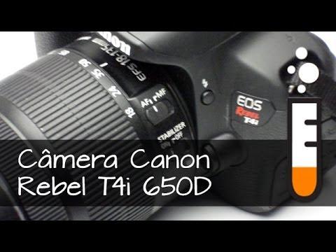 Câmera DSLR Canon Rebel T4i 650D - Resenha Brasil