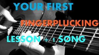 Your FIRST FINGERPLUCKING LESSON + A ROMANTIC SONG FOR PRACTICE - EASY HINDI BEGINNER LESSON