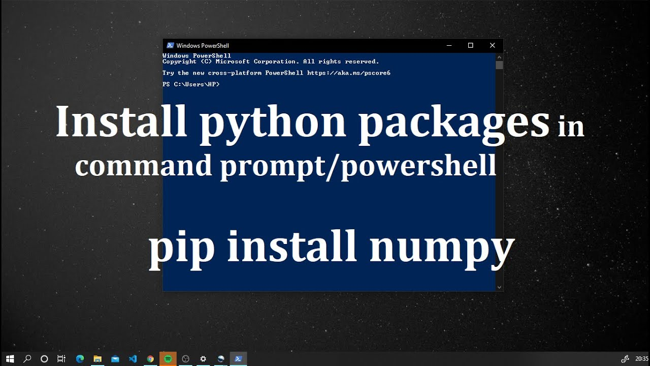 Install python packages in command prompt/powershell using pip ...