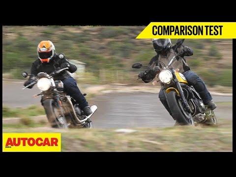 Triumph Bonneville Street Twin VS Ducati Scrambler Icon | Comparison Test | Autocar India