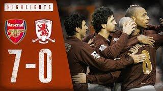 Arsenal 7-0 Middlesbrough | Arsenal Classics | Premier League | Jan 14, 2006