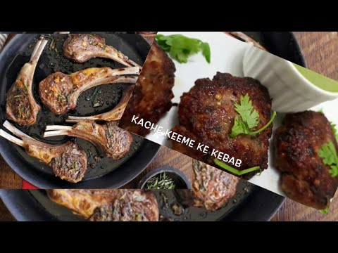 2 types of Bakra Eid Starters awesome kebabs and lamb chops !!!