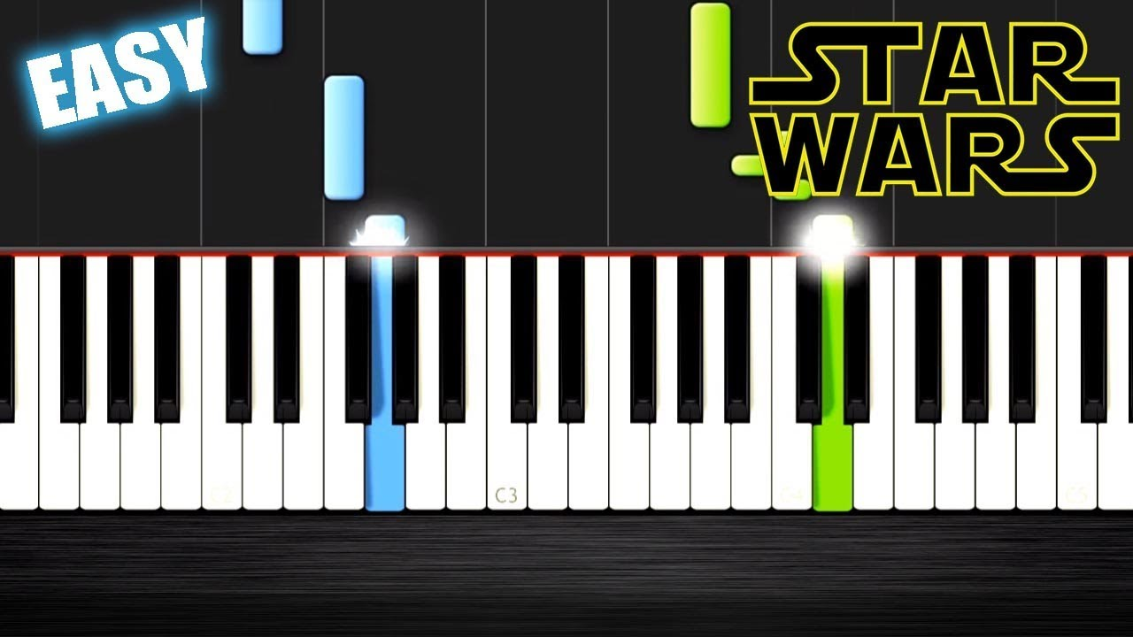 Star Wars - Main Theme - EASY Piano Tutorial by PlutaX - Synthesia